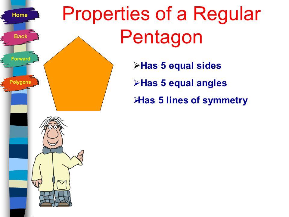 Properties of a Regular Pentagon