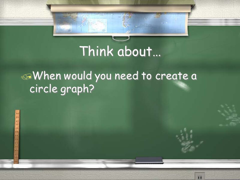 Think about… When would you need to create a circle graph