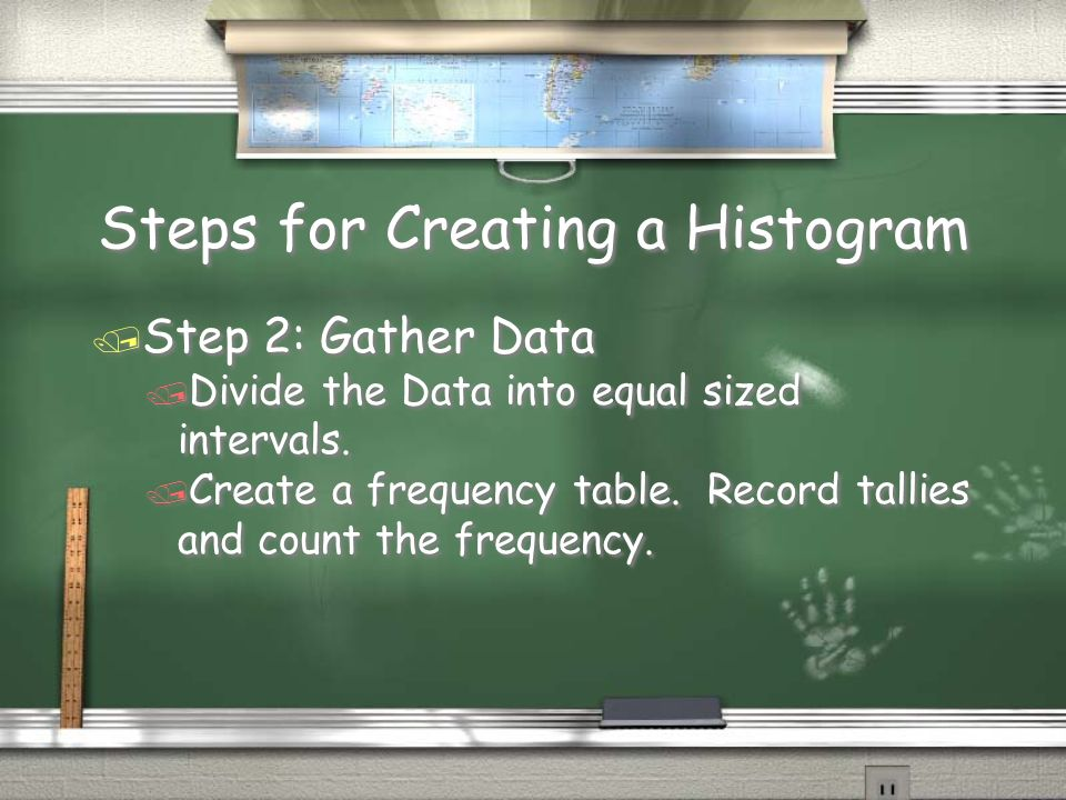 Steps for Creating a Histogram