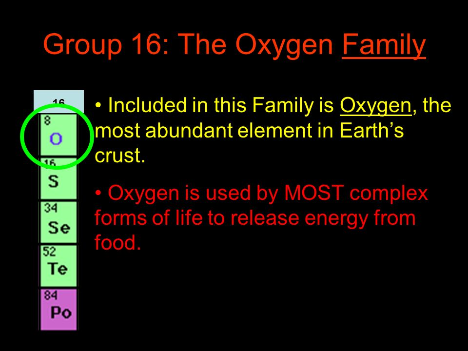 Group 16: The Oxygen Family