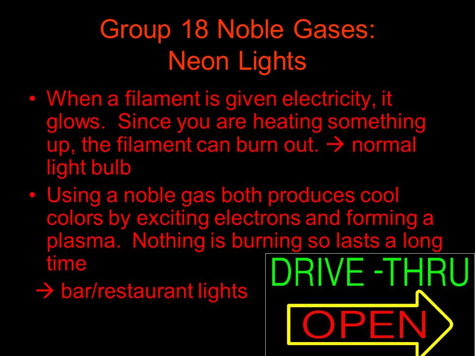 Group 18 Noble Gases: Neon Lights