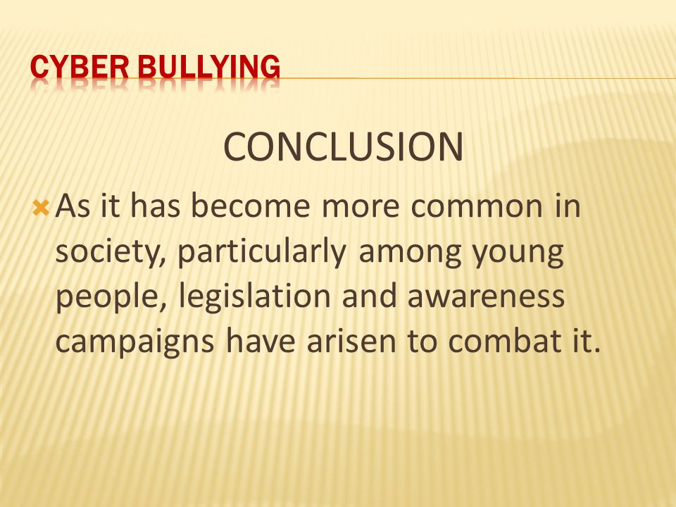 A look at the growing problem of cyber bullying in the world today