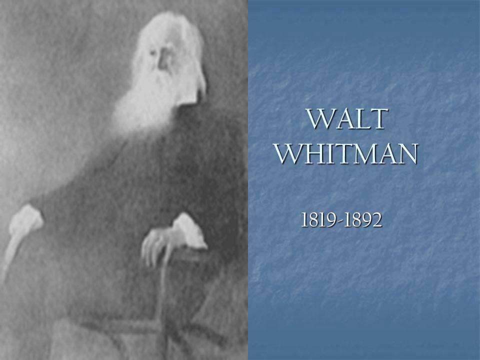Walt Whitman Research Paper