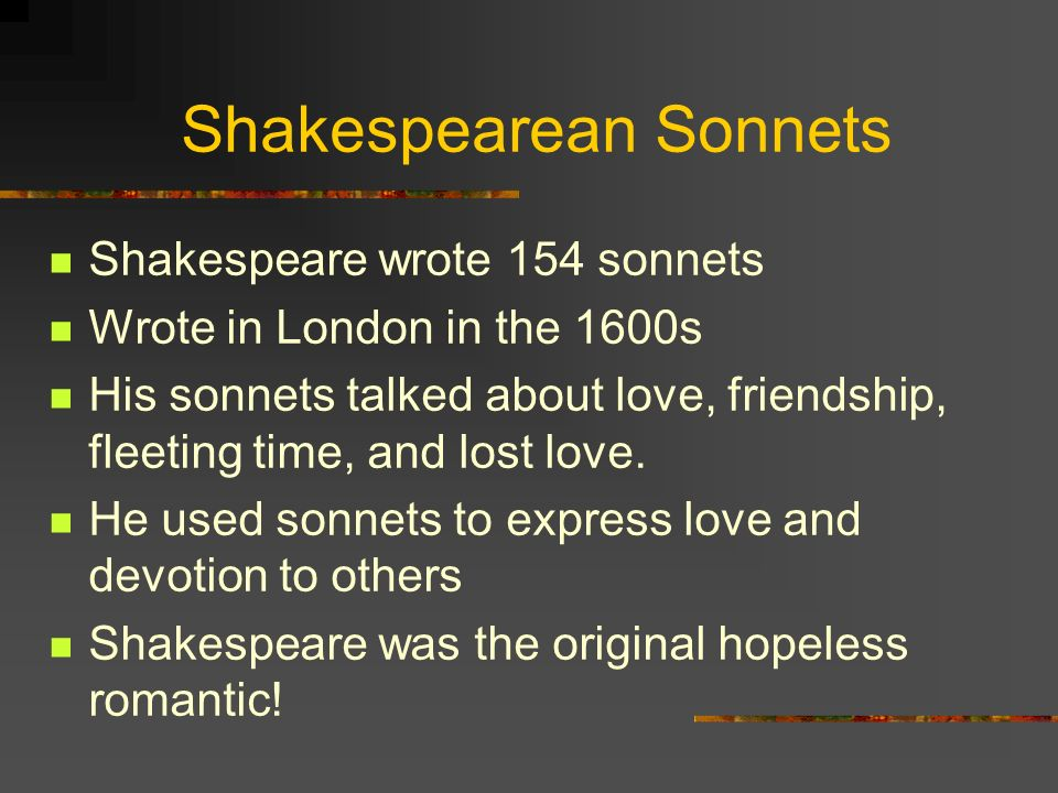 Sonnets Quotes