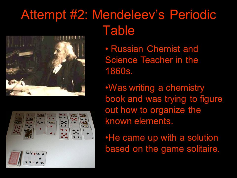Attempt #2: Mendeleev's Periodic Table