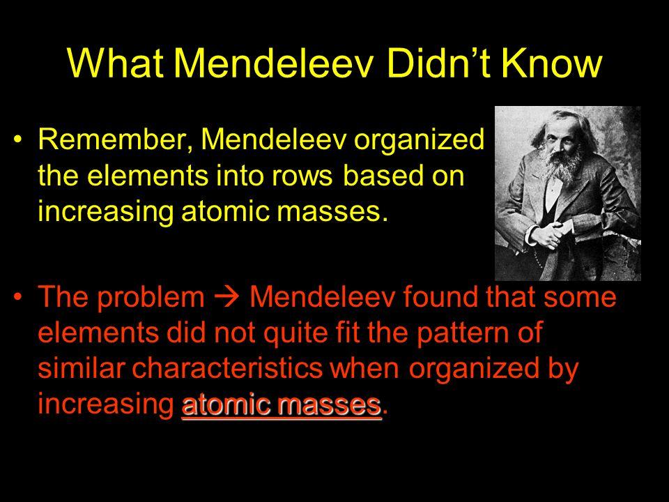 What Mendeleev Didn't Know