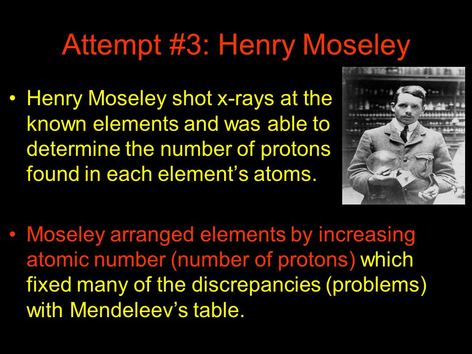 Attempt #3: Henry Moseley