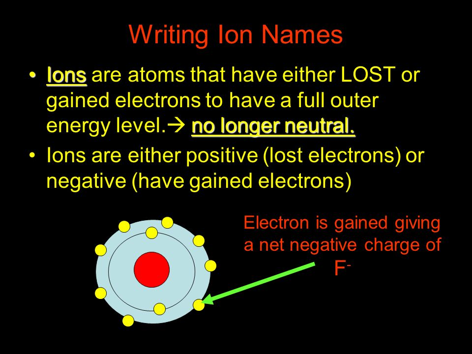Electron is gained giving a net negative charge of F-