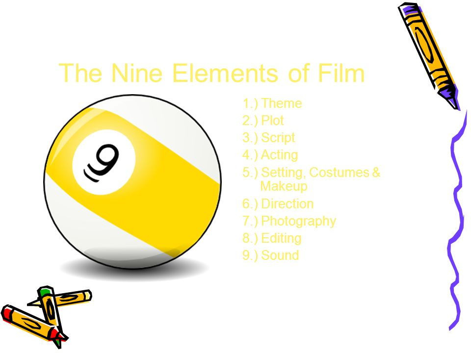 The Nine Elements of Film