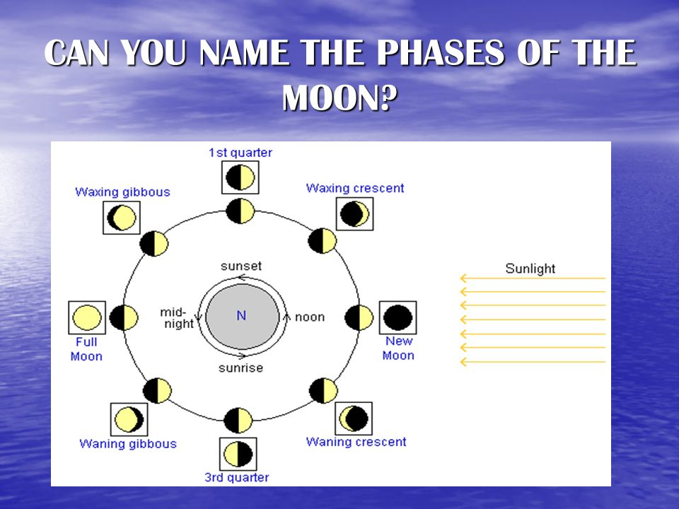 CAN YOU NAME THE PHASES OF THE MOON