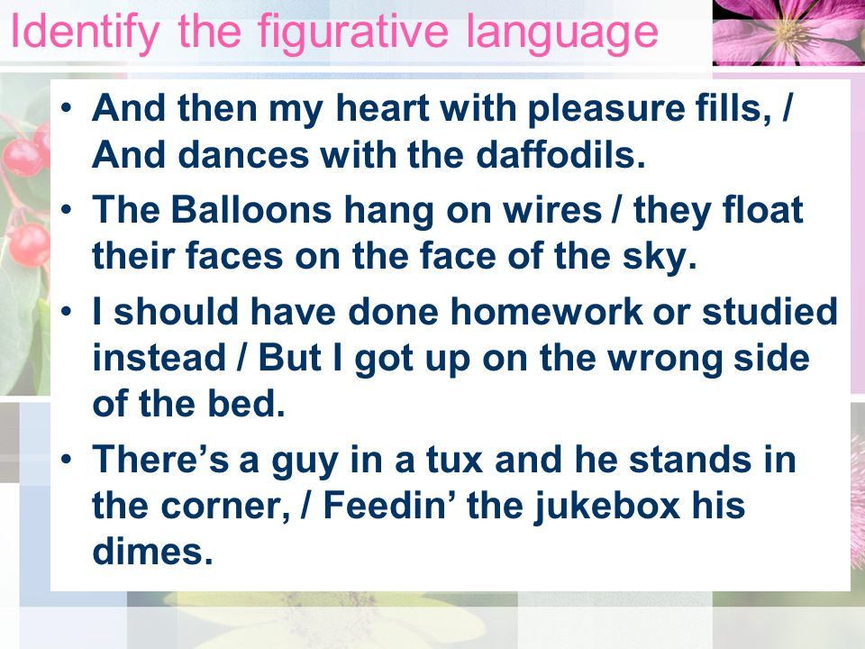 Identify the figurative language