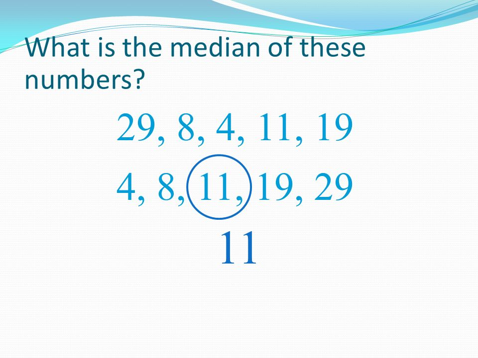 What is the median of these numbers