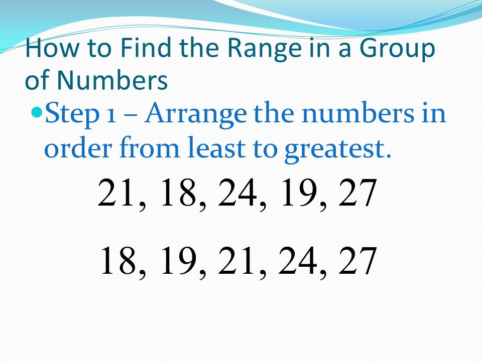 How to Find the Range in a Group of Numbers