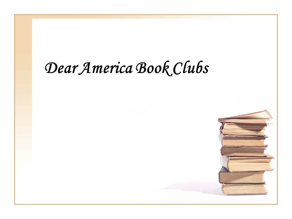 Dear America Book Clubs