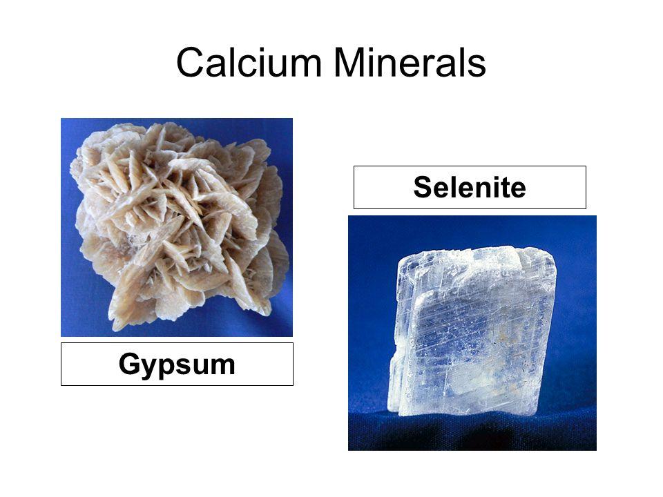 Calcium Minerals Selenite Gypsum
