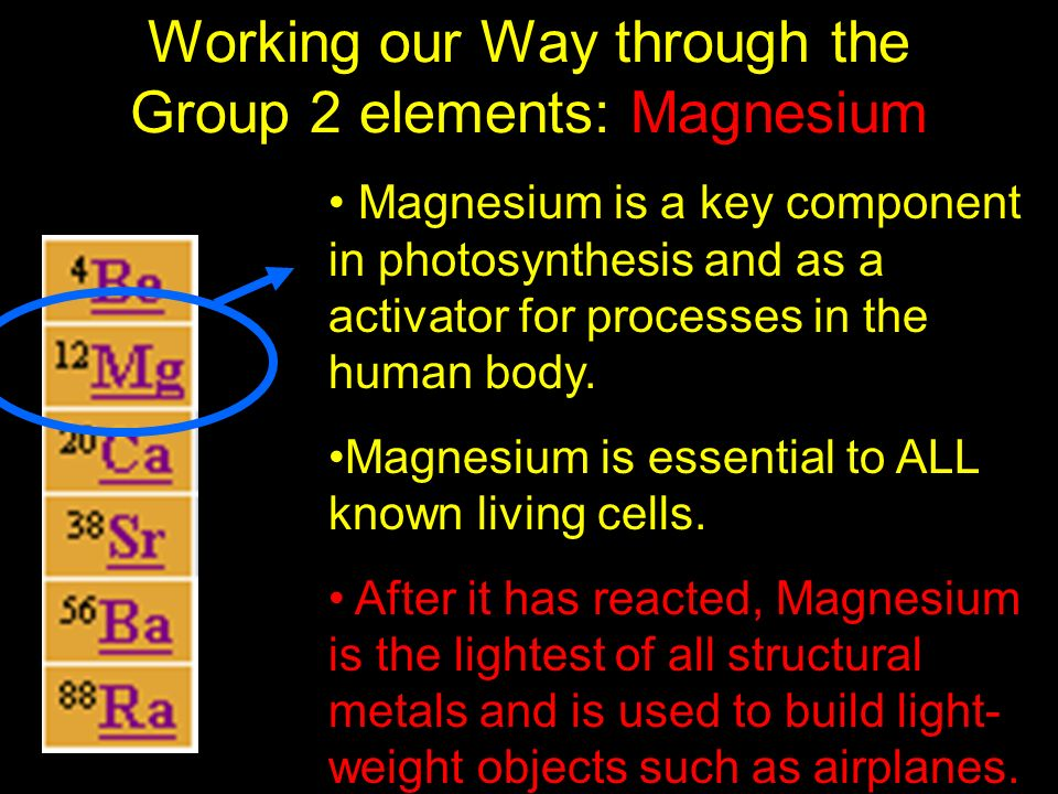 Working our Way through the Group 2 elements: Magnesium