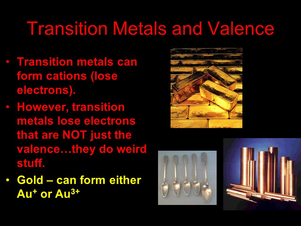Transition Metals and Valence