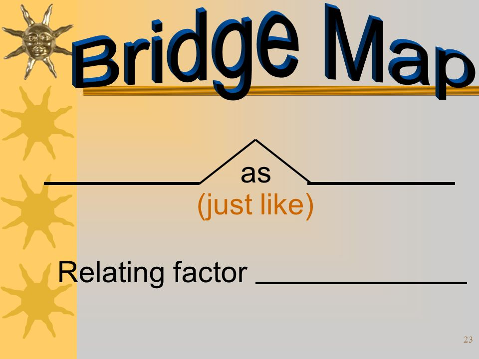 Bridge Map as (just like) Relating factor