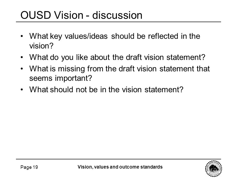 OUSD Vision - discussion