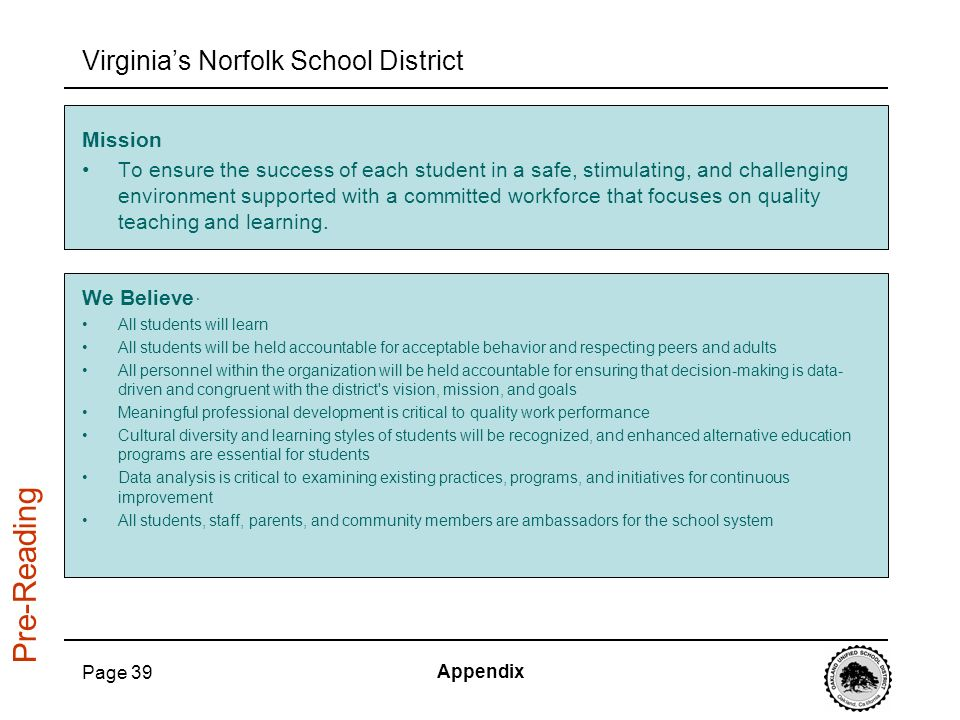 Virginia's Norfolk School District