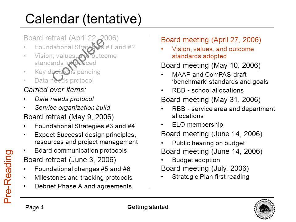 Complete Calendar (tentative) Pre-Reading