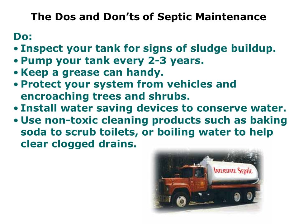 The Dos and Don'ts of Septic Maintenance