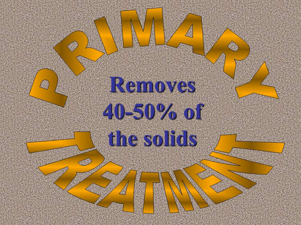 Removes 40-50% of the solids