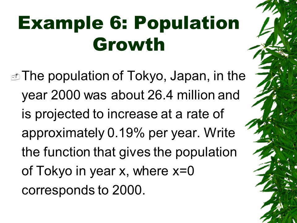 Example 6: Population Growth