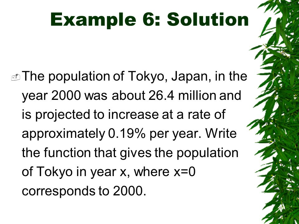 Example 6: Solution