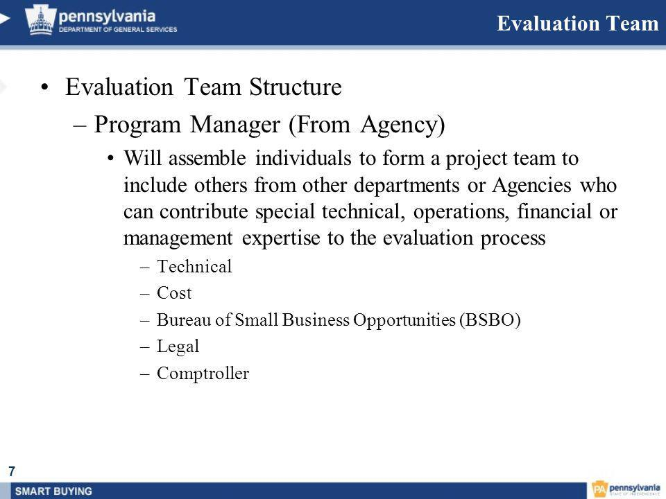 Evaluation Process Evaluation Team Structure