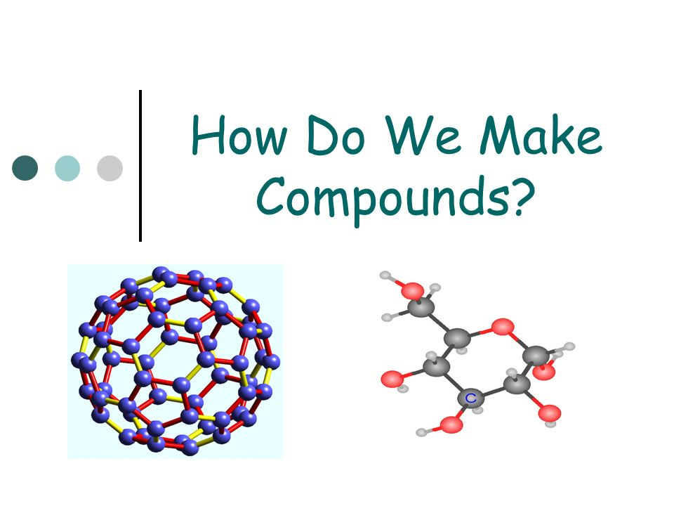How Do We Make Compounds