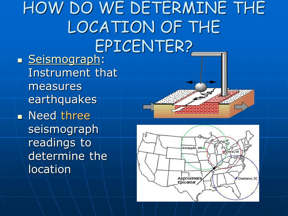 HOW DO WE DETERMINE THE LOCATION OF THE EPICENTER