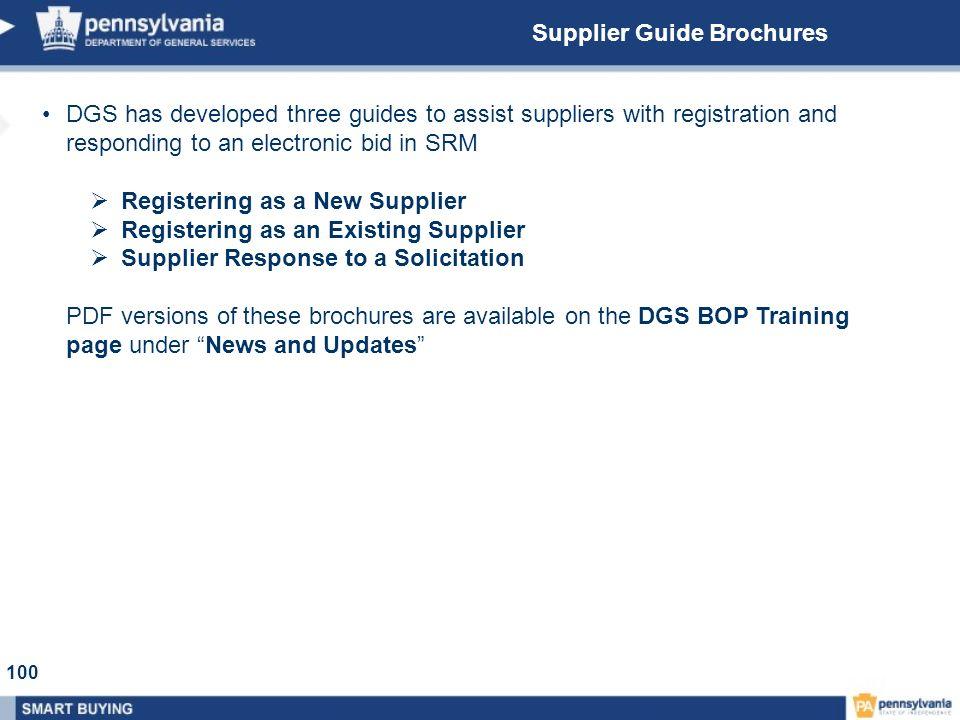 Supplier Guide Brochures