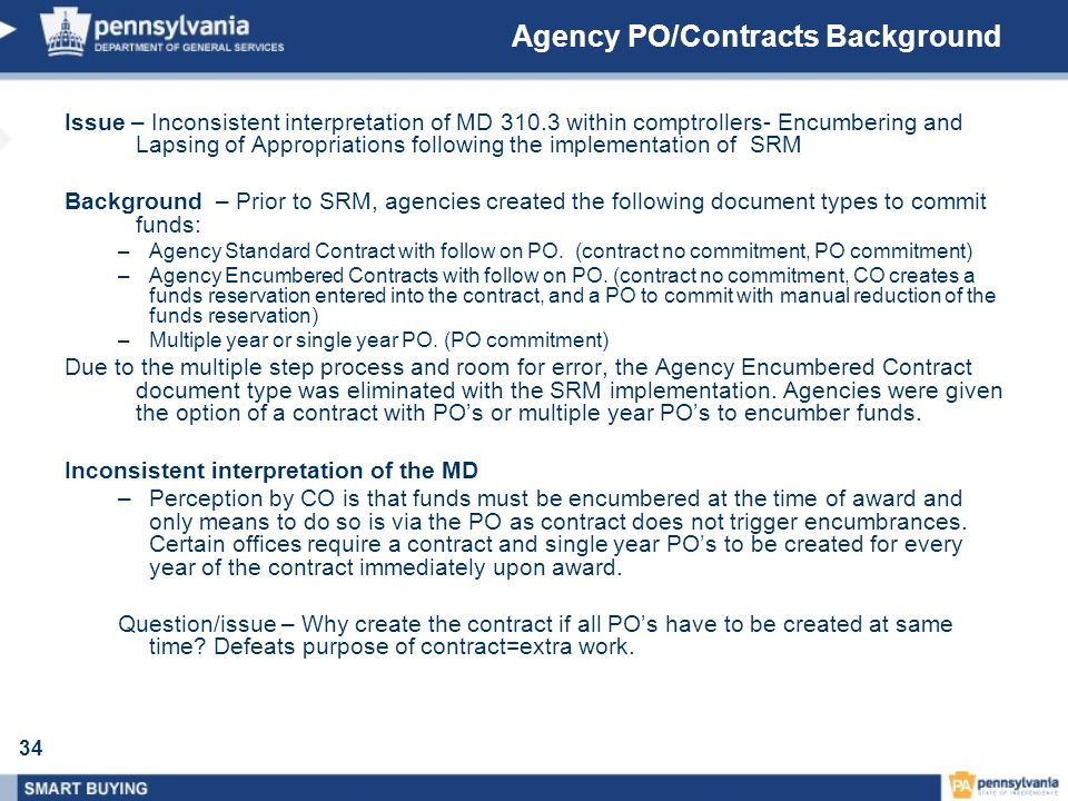 Agency PO/Contracts Background
