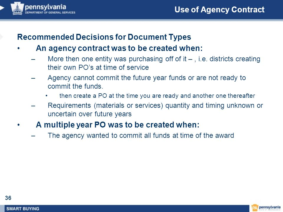 Recommended Decisions for Document Types