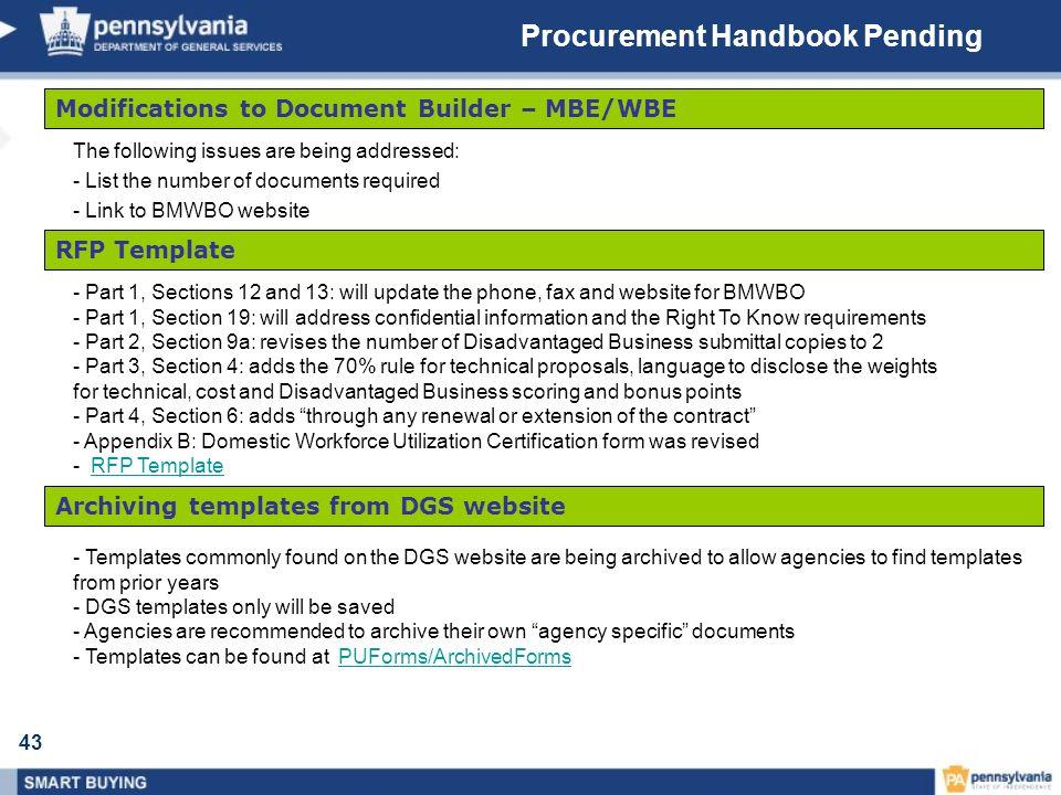 Procurement Handbook Pending