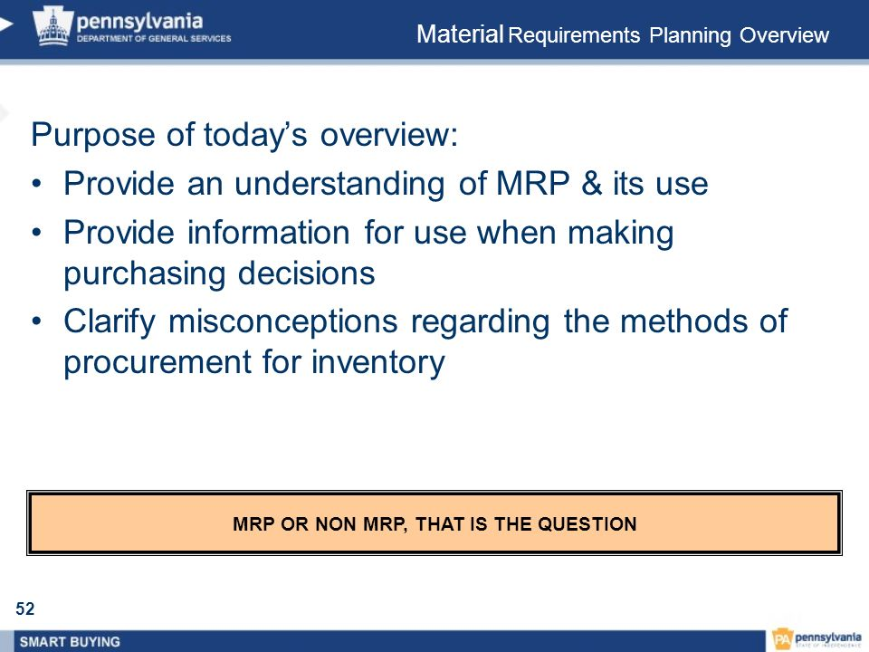 MRP OR NON MRP, THAT IS THE QUESTION