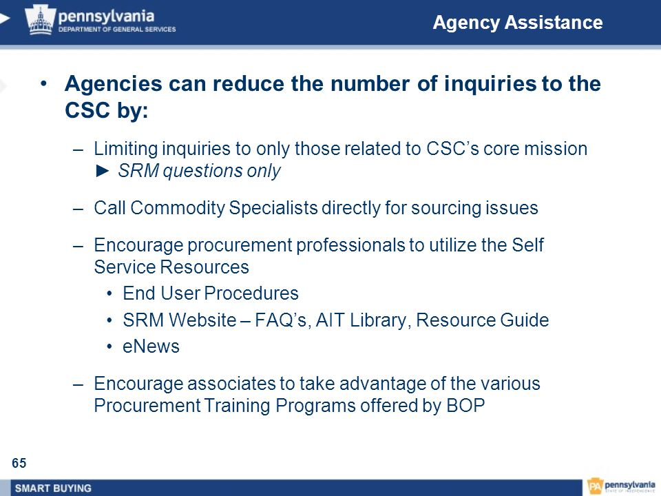 Agencies can reduce the number of inquiries to the CSC by: