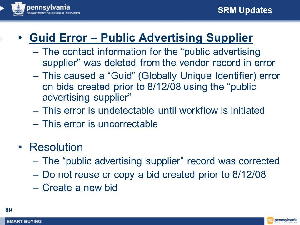 Guid Error – Public Advertising Supplier