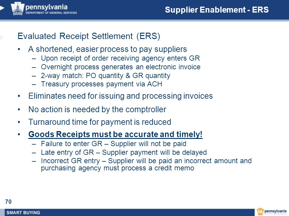 Supplier Enablement - ERS