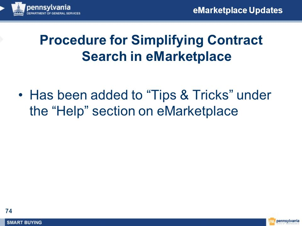 Procedure for Simplifying Contract Search in eMarketplace