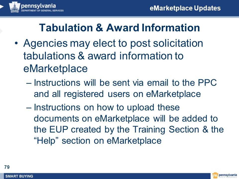 Tabulation & Award Information