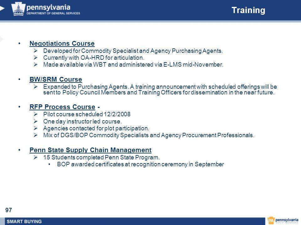 Training Negotiations Course BW/SRM Course RFP Process Course -