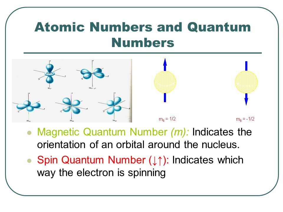 Atomic Numbers and Quantum Numbers
