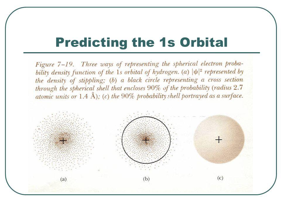 Predicting the 1s Orbital