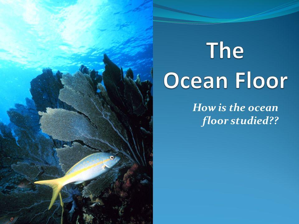 How is the ocean floor studied