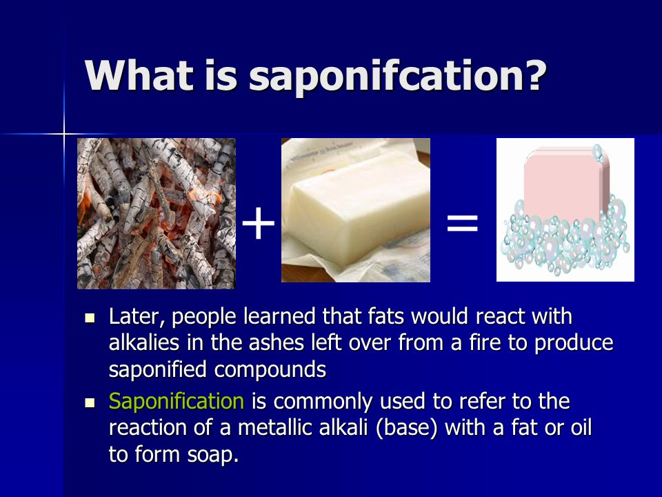 + = What is saponifcation