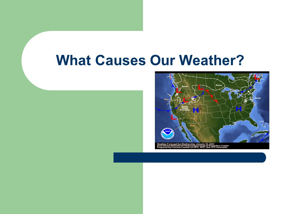 What Causes Our Weather