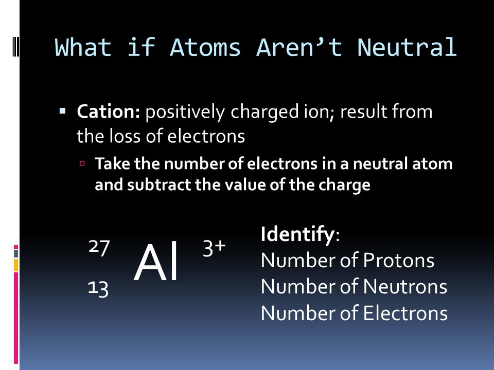 What if Atoms Aren't Neutral