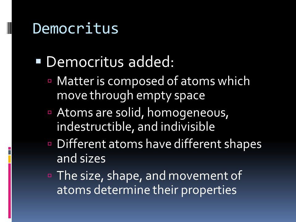 Democritus Democritus added: